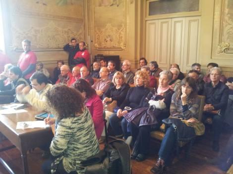 Conocidos militantes y activistas de todos los sectores entre los  asistentes al pleno.