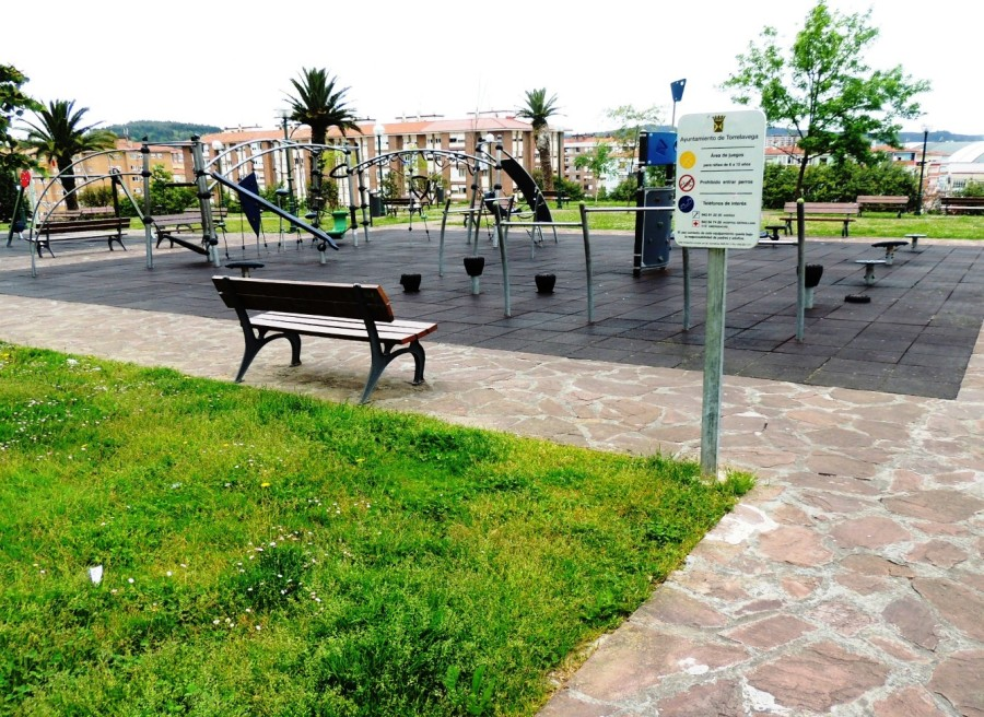 Parque junto a la Plaza de las Autonomías