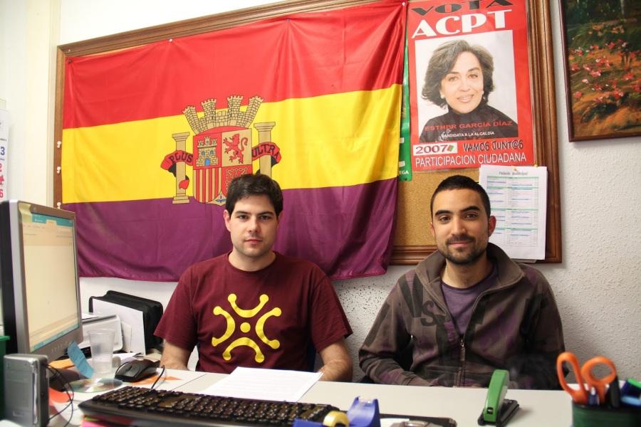 Javier Polanco y Álvaro Villegas ofreciendo la rueda de prensa