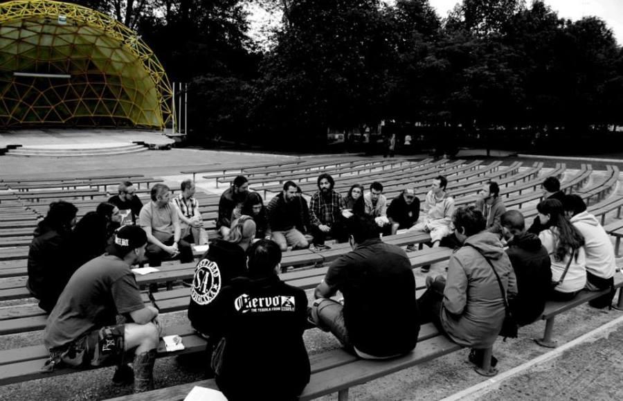 """Reunión de la Plataforma """"Cultura sin techo"""" en el Auditorium Lucio Lázaro"""