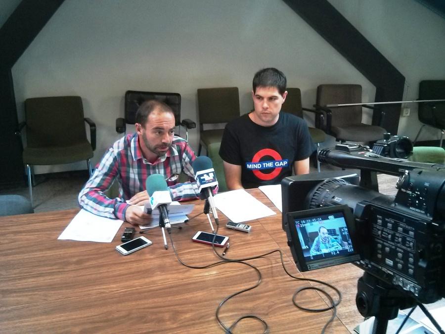 Iván Martínez y Javier Polanco en la rueda de prensa.