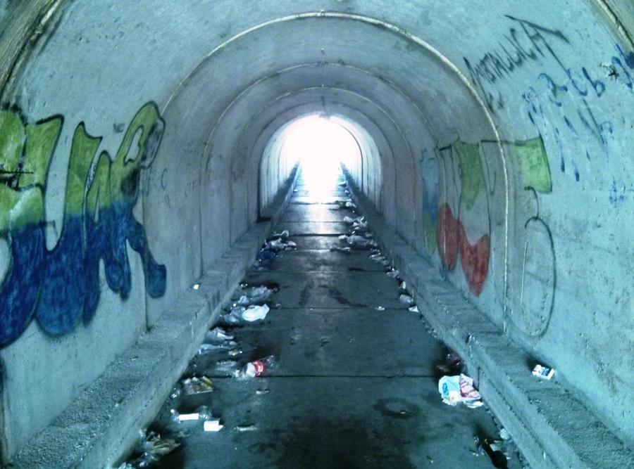Túnel peatonal bajo la A-8 en Los Ochos (Sierrapando)