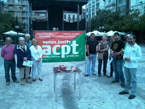 Un momento de la presentación de la Campaña, en el Boulevard Demetrio Herrero