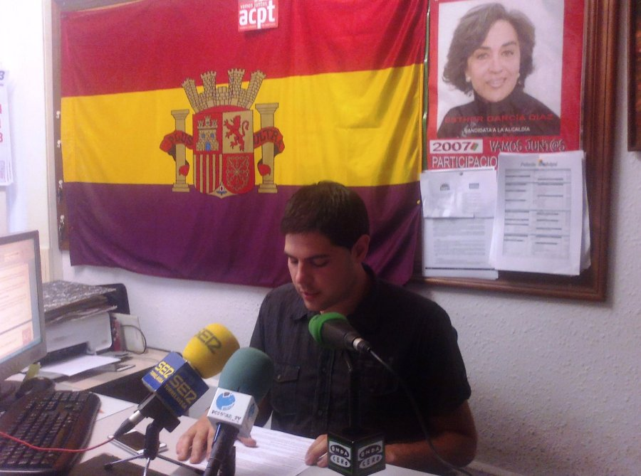 Javier Polanco en la rueda de prensa
