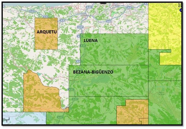 Permisos de fracking próximos a Torrelavega: Arquetu, Luena y Bezana-Bigüenzo