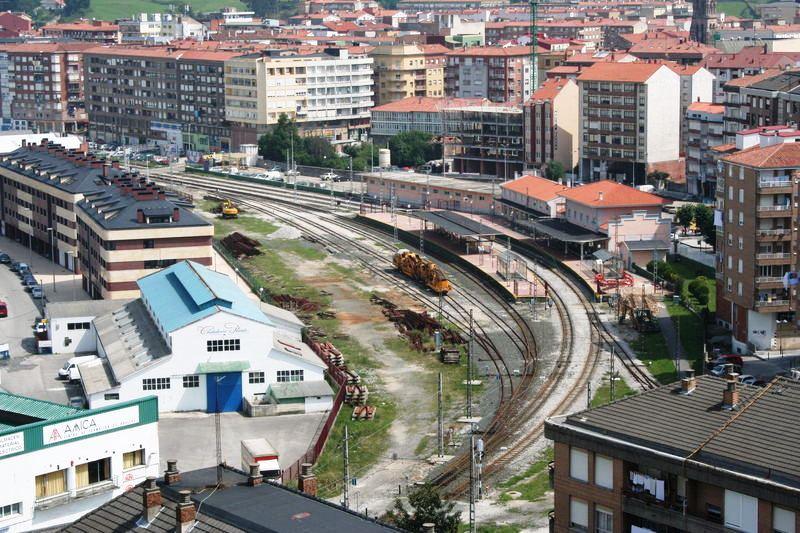 Vista aérea de la zona donde debe llevarse a cabo la integración ferroviaria