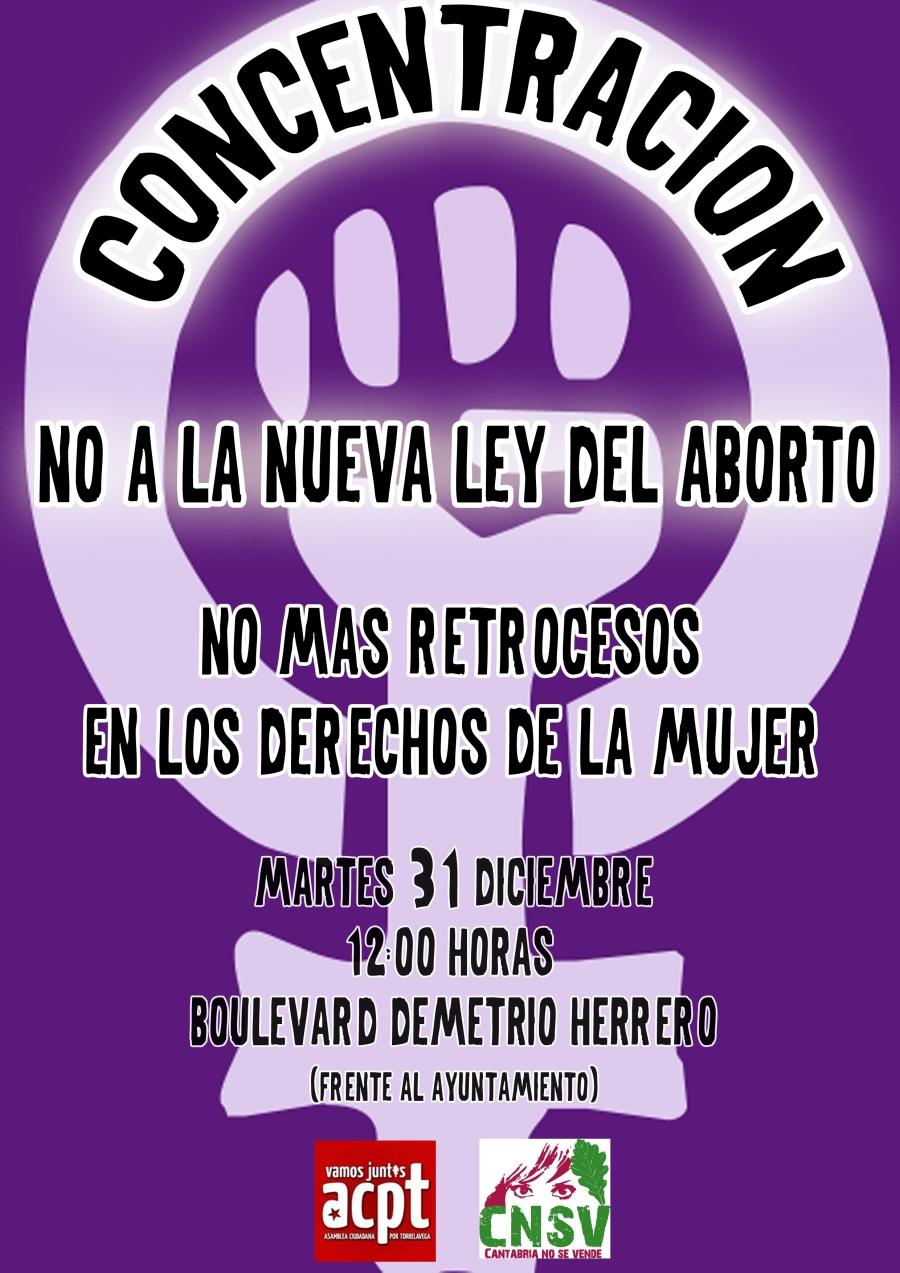 COncentración contra ley de aborto