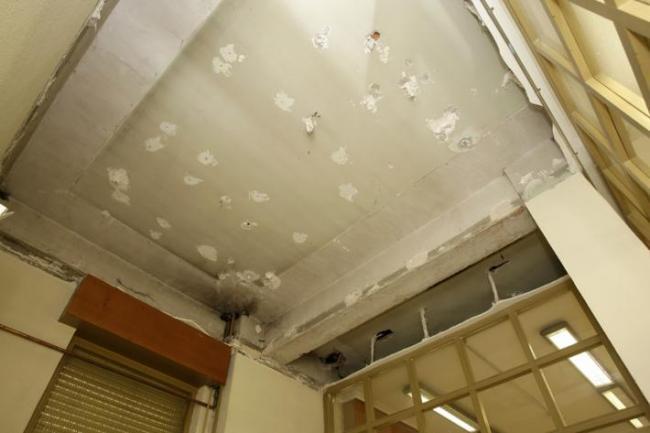 Derrumbe del falso techo en 2.012 Foto: Luis Palomeque