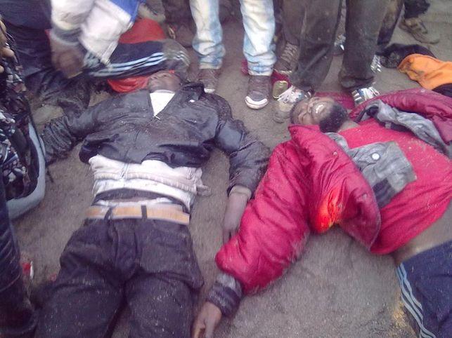 Cuerpos sin vida de dos de los migrantes