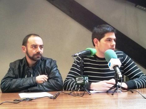 Iván Martínez y Javier Polanco en un momento de la rueda de prensa de ACPT