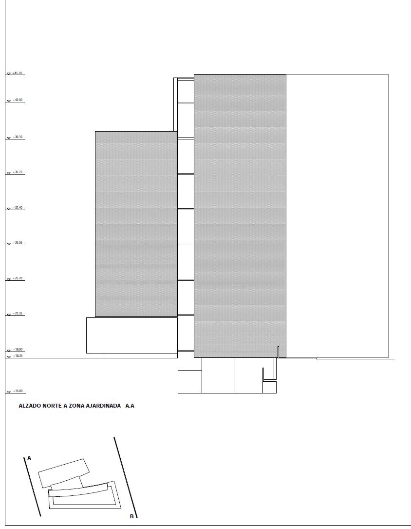 El centro de emprendedores constará de dos bloques de casi 30 metros de altura construida