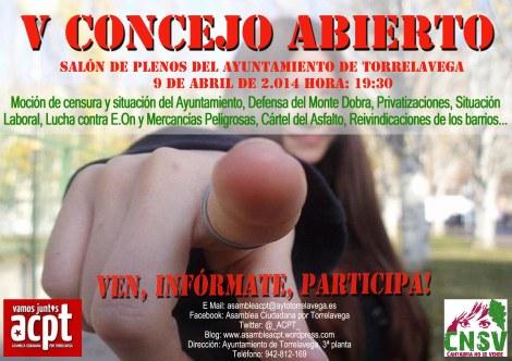cartel concejo abierto ACPT