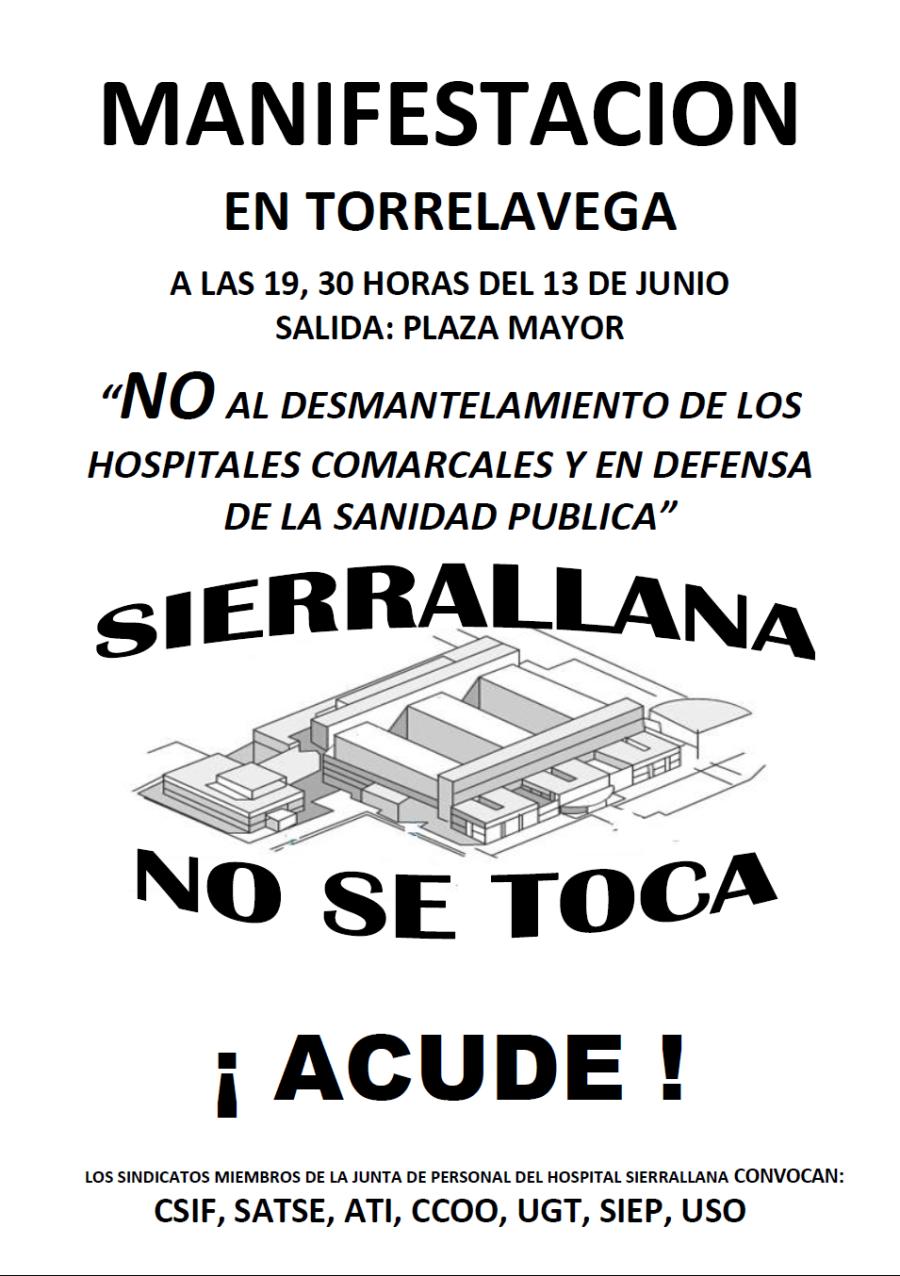 Cartel Junta de Personal de Sierrallana