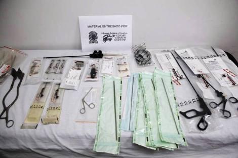 Material quirúrgico entregado en el hospital de Beit Sahour