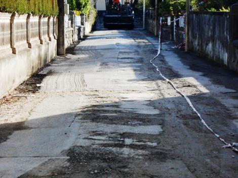 Asfaltado de Miravalles, ejecutado por SENOR (empresa del cartel del asfalto)