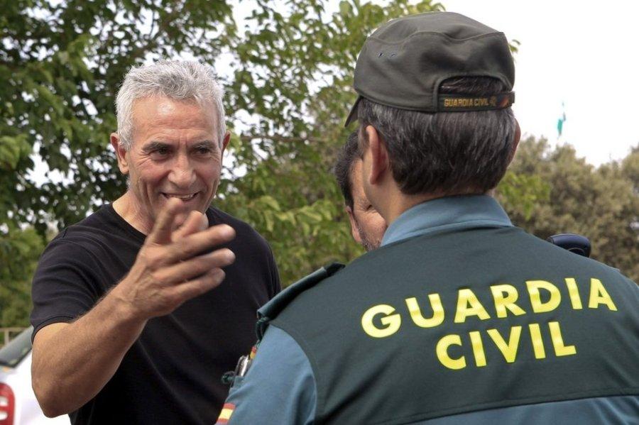 Diego Cañamero, en plena acción directa