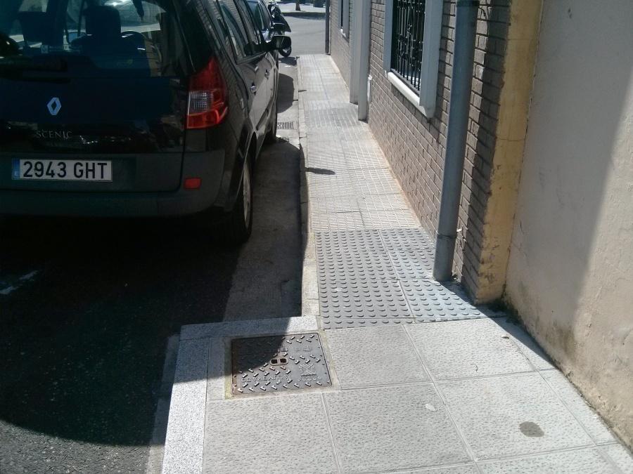 Paso estrecho para personas con movilidad reducida