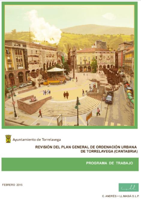 Portada del Plan de Trabajo de la revisión del PGOU de Torrelavega